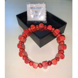 Jay King | NWT Mine Finds Orange Stretch Bracelet